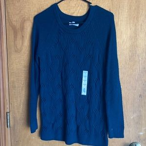 NWT Sonoma brand forest green long sweater crew